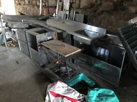 Stainless Steel Kitchen Units and Sinks Various. From a Commercial Kitchen.
