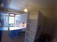 Loft bed combo w 4 drawers/2 doors STUVA ikea White/green