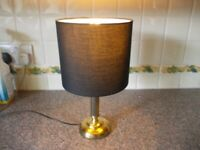 BHS brass effect table lamp good condition