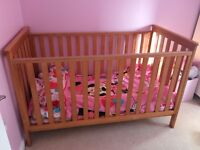 QUICK SALE Mothercare Cotbed and Drawers with Changer