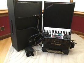 Cordovox Super Accordion / Accordian with Amp and Accessories