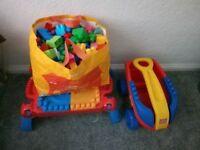 Megabloks table and wagon