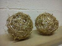 Rattan decorative balls