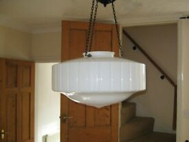 Vintage white gloss, glass lightshade