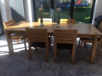 M& s sonama table,chairs sideboard and tv unit