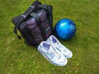 AMF Bowling Ball, Shoes & Bag