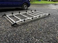 Roof rack ALLOY transit custom lwb HIGH ROOF
