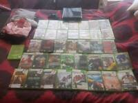 Slim Xbox 360 250gb with 31 games in good condition