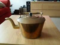Large Vintage Copper Kettle