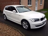 BMW 1 SERIES 116I SE WHITE 2009 6 SPEED 5 DOOR PETROL