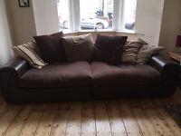 Really comfy large brown sofa