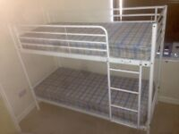 Shorty Bunk Beds (Tesco) White Metal incl. mattresses