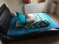 Double bed with new mattress