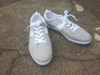 New Grey & White Lace Up Trainers Size UK 8, EUR 42