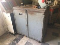 Engineers Metal Work Bench Kitchen Island Industrial Furniture Vintage Cupboard