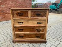 Solid wood 5 draw chest of drawers