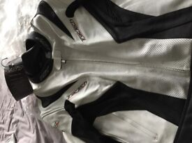 RST Tractech leather Jacket Size 50 white