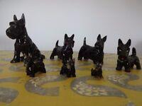 Old Vintage Scottie Scottish Terrier Dog Ornaments
