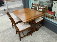 solid well made table and 4 chairs ideal shabby chic project