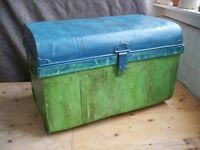 Shabby chic metal metal chest