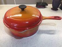 Le Creuset casserole pan / pot orange