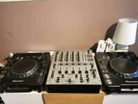 CDJ 1000MK3 Pair. Behringer djx mixer and serato SL1