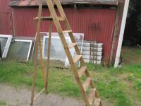 Vintage wooden stepladder