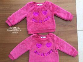 1 left. 18-24 Month pink furry H&M sweatshirt