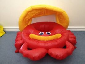 Infant Crab pool inflatable with shade