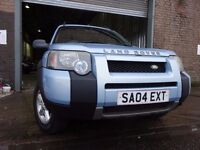 💥04 LAND ROVER 4X4 FREELANDER 1.8,5 DOOR,MOT JAN 018,3 OWNERS,PART HISTORY,VERY RELIABLE JEEP