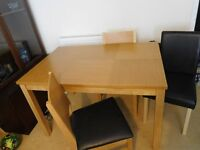 Dining table with 7 chairs