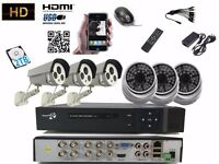 6 full HD Outdoor Cameras 8Ch AHD CCTV System 2TB Complete Kit Plug&Play P2Psystem
