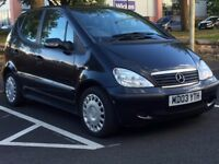 MERCEDES A140 SE 2003 (03 REG)**£799**LONG MOT*LOW MILES*BLACK*MANUAL*PX WELCOME*DELIVERY