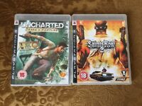 PS3 Games - Unchartered and Saints Row 2