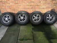 landrover discovery 1 alloy wheels and tyres