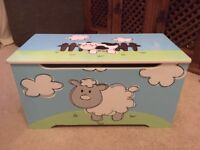 Solid, well made children's toy blanket box animals
