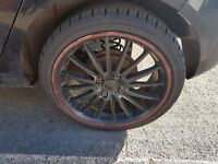 4x set of alloys with tyres