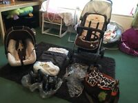 Winnie the Pooh travel system in used working order