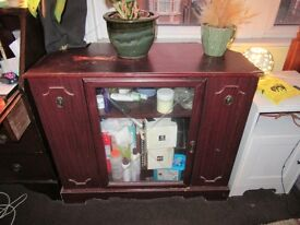 Lovely glass cabinet with lots of character