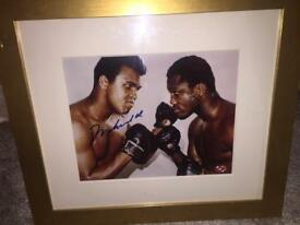 Mohammed Ali signed picture with receipt and authenticity proof