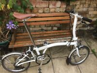 Brompton S2L White Folding Bike Bicycle