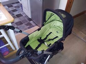OBABY SPORT STROLLER with BABY CAR SEAT 3-in-1 Pushchair Pram Travel System £70 ONO great condition