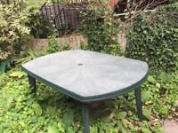 Two garden tables & 2 chairs (or can be sold separately)