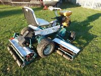 ALLEN NATIONAL RIDE ON CYLINDER MOWER, 6FOOT CUT, 8.5HP ENGINE, ALL IN WORKING ORDER