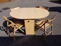 Butterfly Folding Table 4 Chairs FREE DELIVERY 365