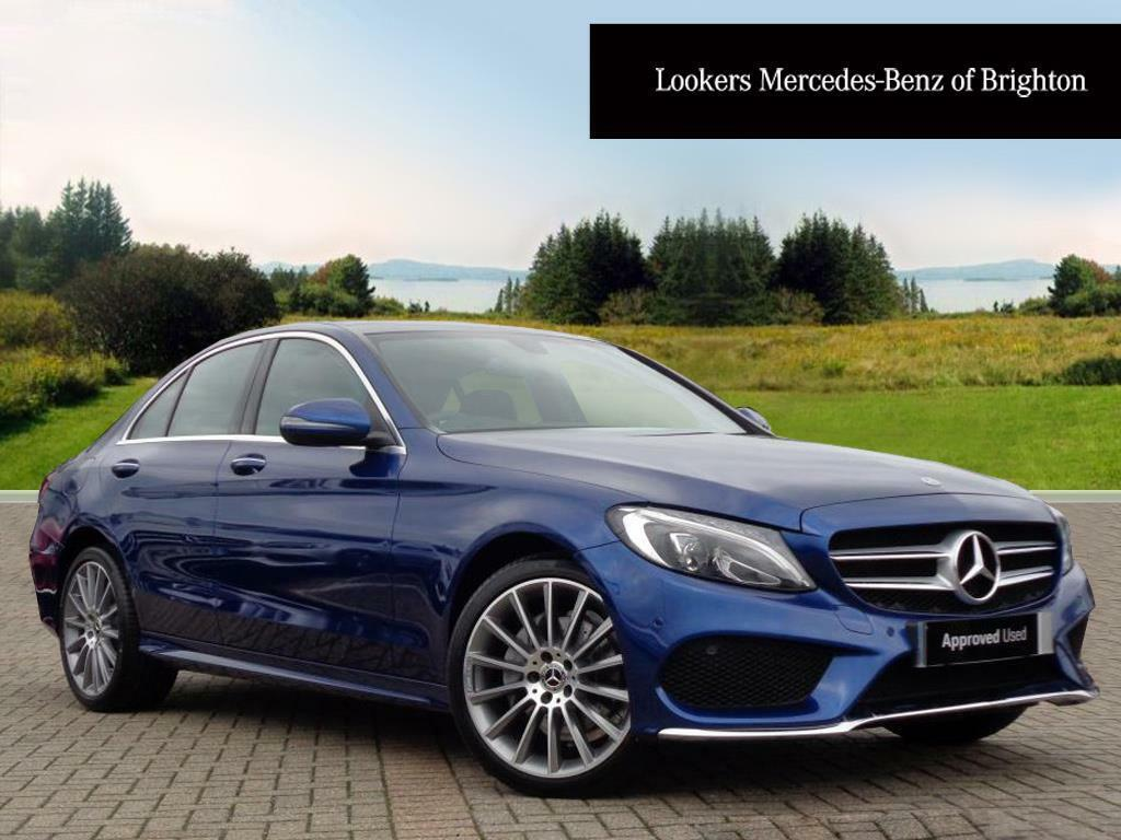 mercedes benz c class c 220 d 4matic amg line premium blue 2017 09 29 in portslade east. Black Bedroom Furniture Sets. Home Design Ideas