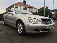 2003 MERCEDES S320 Cdi-DIESEL AUTOMATIC,112000 MILES/FULL DEALER SERVICE HISTORY,2-OWNERS,HPI CLEAR