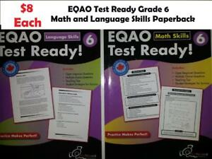 $8 EQAO Test Ready Math and Language Skills Grade 6 Paperback