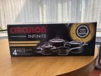 Circulon infinite 4 piece pan set brand new