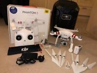 DJI Phantom 3 standard as new with bag and extras